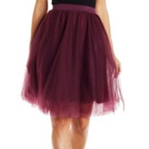 04a59ce244 Charlotte Russe Skirts   Wine Tulle Skirt   Poshmark